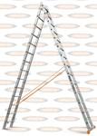 Двухсекционная выдвижная лестница Эйфель Классик 2х14