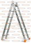 Двухсекционная выдвижная лестница Эйфель Классик 2х6