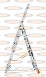 Трехсекционная выдвижная лестница Эйфель Классик 3х6