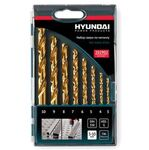 Набор сверл по металлу HSS-G DIN338 HYUNDAI (8шт) 3-10x1,0mm TIN 202902