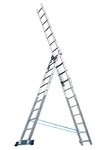 Лестница, 3 х 11 ступеней, алюминиевая, трехсекционная Pоссия