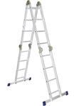 Лестница, 4 х 3 ступени, алюминиевая, шарнирная Pоссия