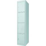 Шкаф металлический вещевой ШВ-4, 4 двери, замки