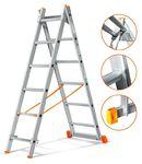 Двухсекционная выдвижная лестница Эйфель Гранит 2х6