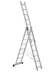 Трехсекционная лестница алюминиевая Стандарт 3х8