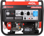 Портативный бензиновый генератор A-iPower A8500EA 20113
