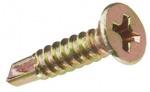Саморез оконный желтый цинк с потайной головкой со сверлом 3,9х32мм